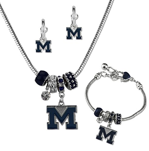 (SANDOL Michigan Wolverines MVP Jewelry Combo (Bracelet, Necklace, Earrings) )