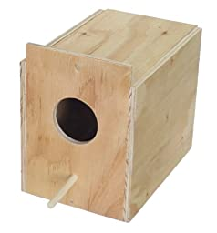 YML Assembled Wooden Nest Box for Outside Mount, Large