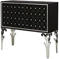 Michael Amini Hollywood Swank Sideboard Cabinet, Black Onyx