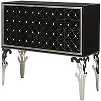 Michael Amini Hollywood Swank Sideboard Cabinet, Black Onyx