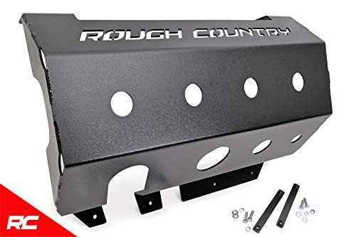 (Rough Country Skid Plate Muffler Compatible w/ 2007-2018 Jeep Wrangler JK Muffler Armor 779)