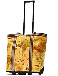 Luggage Cosmopolitan Rolling Shopper Tote, Map, One Size