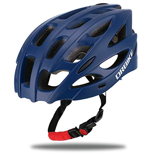 DRBIKE Bike Helmet with Lightweight PC Shell/Soft Replacable EPS Liner/Removable Visor, Adjustable Cycling/Bicycle Helmet for Road/Mountain/BMX Men/Women/Youth, Blue