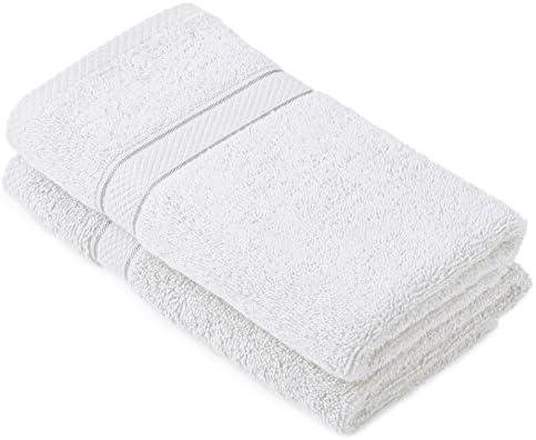 Pinzon by Amazon - Juego de toallas de algodón egipcio (2 toallas de manos), color blanco: Amazon.es: Hogar