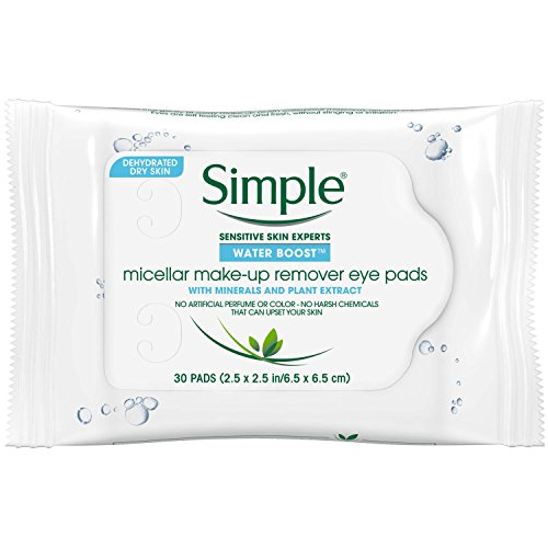 Simple Water Boost Micellar Make-Up Remover, Eye Pads, 30 Co