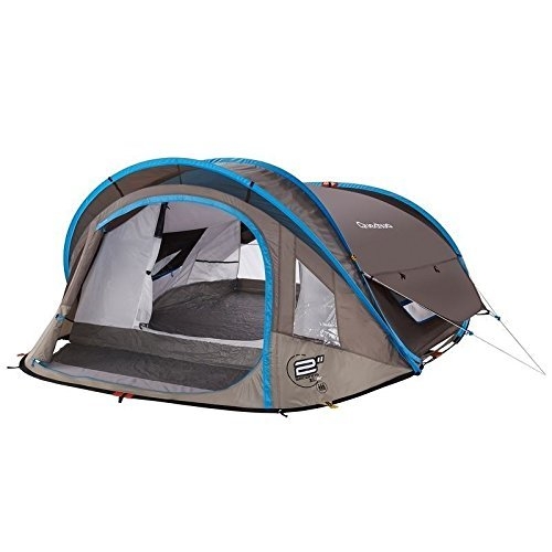 Quechua Waterproof Pop Up Camping Tent 2 Seconds XL AIR III, 3 Man Double Lining