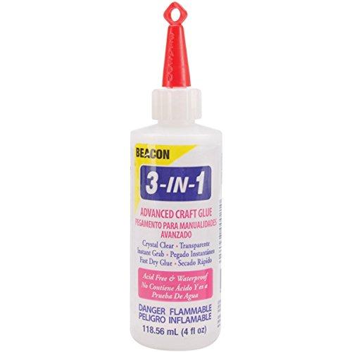3-in-1 Advanced Craft Glue  118.56ml Medium Bottle, Clear