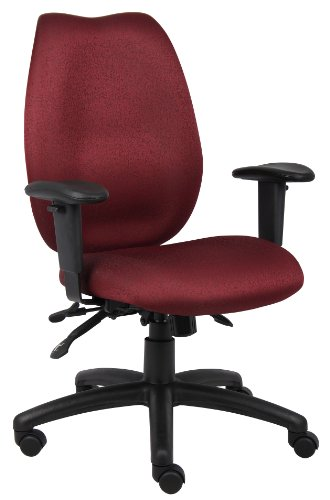 Boss Office Products B1002-BY High Back Task Chair in Burgundy (Burgundy Task Multi Chair)