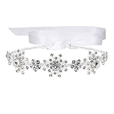 EVER FAITH Silver-Tone Austrian Crystal Wedding Snowflake Flower Hair Band Clear