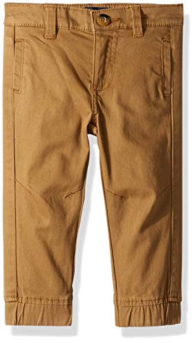 French Toast Baby Boys' Little Stretch Pull-On Jogger Pant, Dark Khaki, 24M