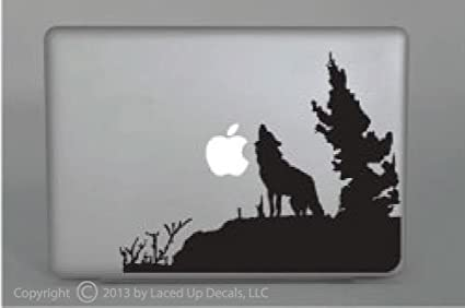 Wolf Howling Macbook pro skin apple decal sticker