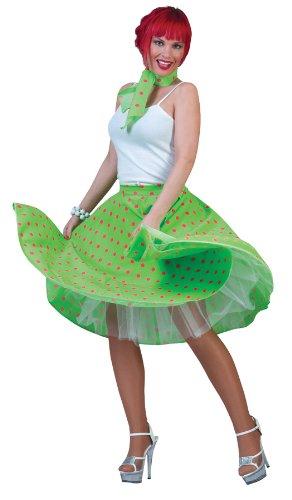 Sock Hop Skirt Adult Green Pink