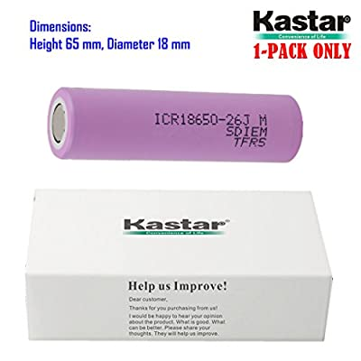Kastar SAM26JM for Samsung 26J, 26JM 2600mAh Lithium-ion Battery