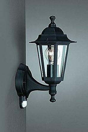 Negro lámpara con sensor de movimiento de Philips/Massive lámpara de pared para exteriores con