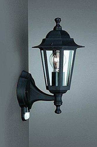 Schwarze Außenlampe mit Bewegungsmelder von Philips Massive Sensorleuchte Außenleuchte Wandlampe Philips/Massive PH2/1/284