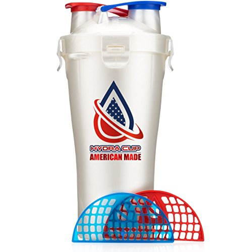 - Hydra Cup - Dual Threat, Shaker Bottle, 28 Ounce Shaker Cup, Made in USA (1 Bottle, American Made)