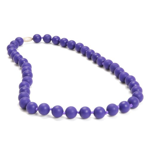 - Chewbeads Jane Teething Necklace (Classic Purple) - Original Fashionable Infant Teething Jewelry for Mom. 100% Medical Grade Silicone Safe for Teething Babies and Toddlers. BPA Free