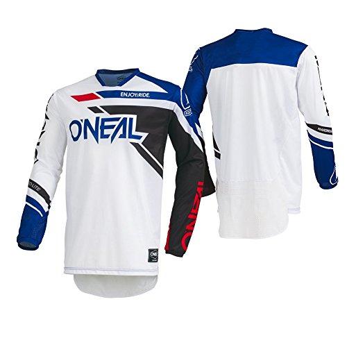O'Neal Men's Hardwear Rizer Jersey (Black/White, Medium) -
