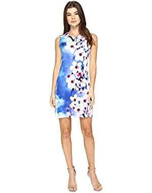 Womens Jersey Shift Dress in Floral Print CD7A4R8D