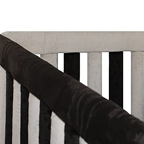 Go Mama Go Designs Reversible Teething Guard, Cream/Chocolate - Crib Teething Rail Cover