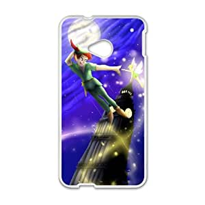 HTC One M7 Cell Phone Case White Peter Pan dcoy