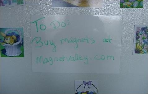 1 Dry Erase White Magnet Sheet 11' x 17' Write on Wipe off Magnetic