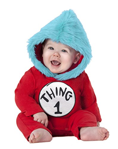 Spirit Halloween Toddler Thing 1 and Thing 2 Costume - Dr. (Thing 1 Baby Costume)