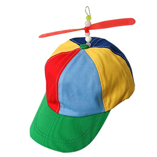 Vanvler Propeller Cap Hat Helicopter Rainbow Tweedle Pride Fancy Dress Nerd (Corlorful) -