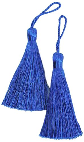 Expo Fiber Tassel, Royal Blue, Pack of 2 (Fiber Tassel Pack)