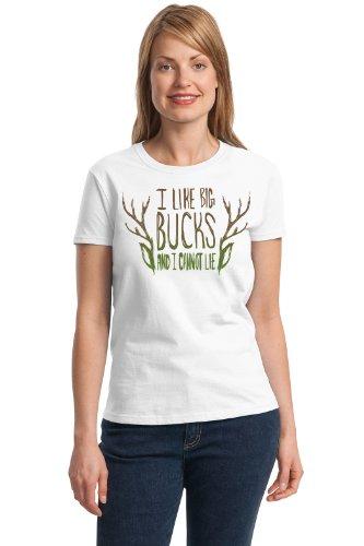 I LIKE BIG BUCKS AND I CANNOT LIE! Ladies' T-shirt / Funny Deer Hunting Hunter