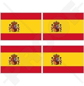 4x spain spanish flag decals sticker bike scooter car vinyl luggage helmet