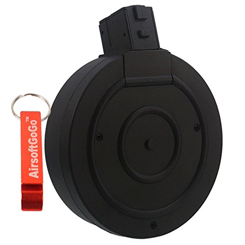 Drum Magazine for Marui , WELL R2 Vz61 SCORPION Airsoft SMG AEP - AirsoftGoGo Keychain Included