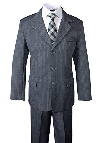 Grey Pinstripe Suit - 8