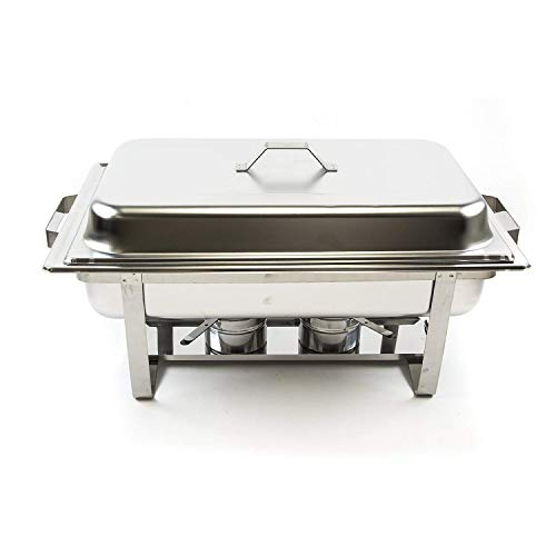 Alpha Living 8QT Chafing Dish High Grade Stainless Steel Chafer Complete Set by Alpha (Image #1)