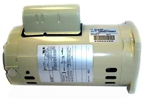 Pentair 356630S Almond 1 HP 3-Phase Single Speed Square Flange Motor Replacement Inground Pool and Spa - Pentair Superflo Pool Pump