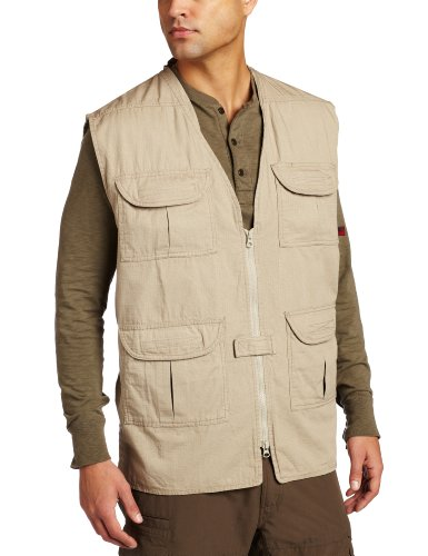 (Woolrich Men's Elite Lightweight Discreet Carry Tactical Vest (Khaki, Large))