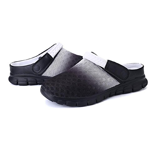 36 Home Beach Women Mesh Men Shoes Clogs On Black Breathable Scandals Garden Slippers Unisex Gradient White Mules Shoes Slip Meedot 46 gF8wqTMZp