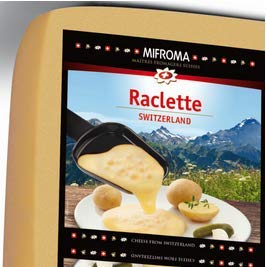 Raccard (Mifroma) Swiss Raclette - Square, Great for Slicing (Small Rectangle (1 Pound))