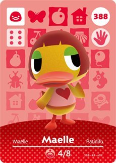 388 Series - Maelle - Nintendo Animal Crossing Happy Home Designer Series 4 Amiibo Card - 388