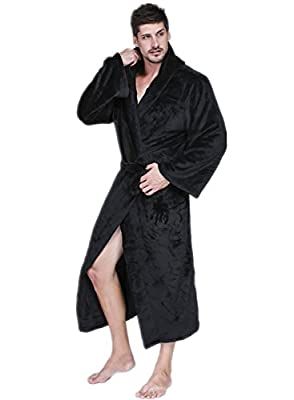 dda1faaa37 VERNASSA Mens Fleece Robe