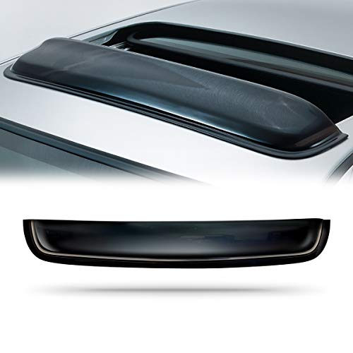 VIOJI 38in. Universal Thickness Dark Smoke Tint Top Sun Moon Roof Rain Snow Guard Window Sunroof Moonroof Wind Deflector