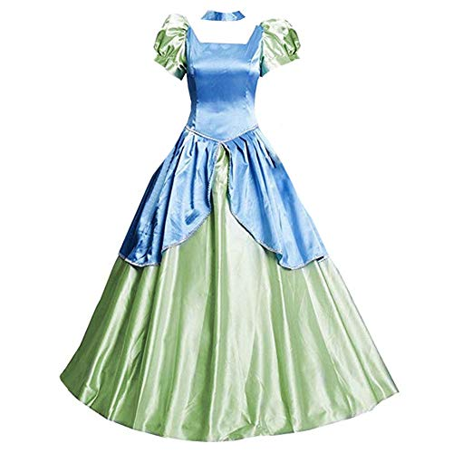 AGLAYOUPIN Adult Drizella Tremaine Cosplay Costume Fancy Blue Court Dress Halloween (M)]()