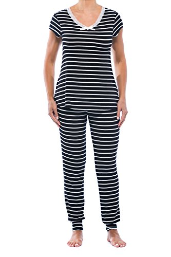CS601008-BLK-XL Christian Siriano New York Women Pajamas Set