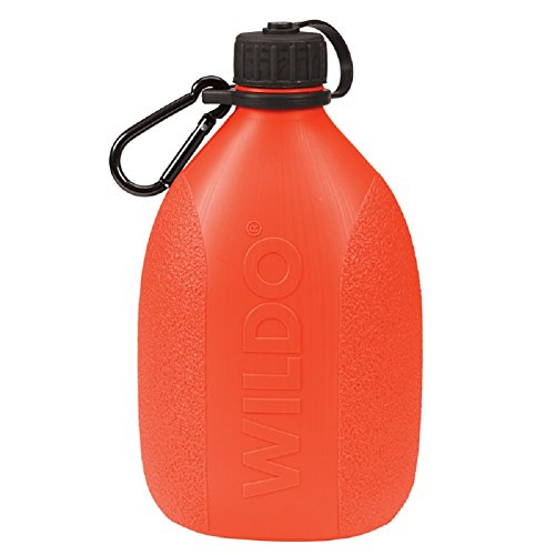 Wildo Senderismo Camping Canteen Almacenamiento de agua ligera Botella de agua w/mosquetón última intervensión de BPA,...