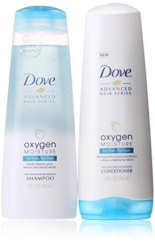 Dove Advanced Hair Series Oxygen Moisture 12 OZ Shampoo & 12 OZ Conditioner for Fine, Flat Hair.