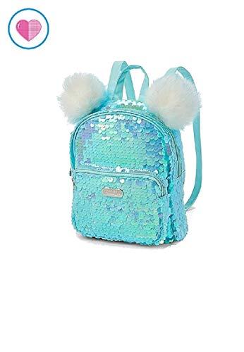 Justice Flip Sequin Pompom Mini Backpack]()