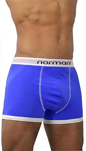 4 x Herren Unterwäsche Boxershorts original normani® Exclusive Farbe Retro/Blau Größe XL