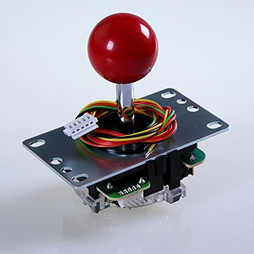 SANWA JLF-TP-8YT-SK OEM Red Ball Top Handle Arcade Joystick 4 & 8 Way Adjustable (Mad Catz SF4 Tournament Joystick Compatible)