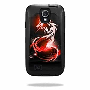 Protective Vinyl Skin Decal Cover for OtterBox Defender Samsung Galaxy S4 Case Sticker Skins Tribal Dragon