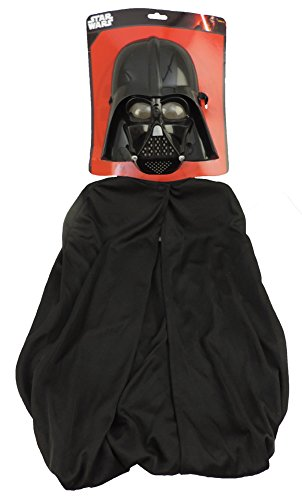 [Star Wars™ Darth Vader 1/2 Mask & Cape Costume Kit] (Luke Skywalker Dark Side Costume)